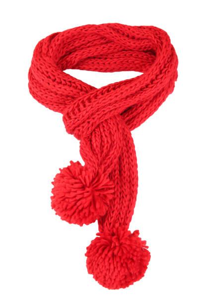 Foulard rouge isolé. - Photo