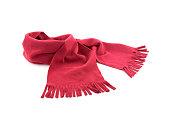 白色の背景に赤のスカーフ