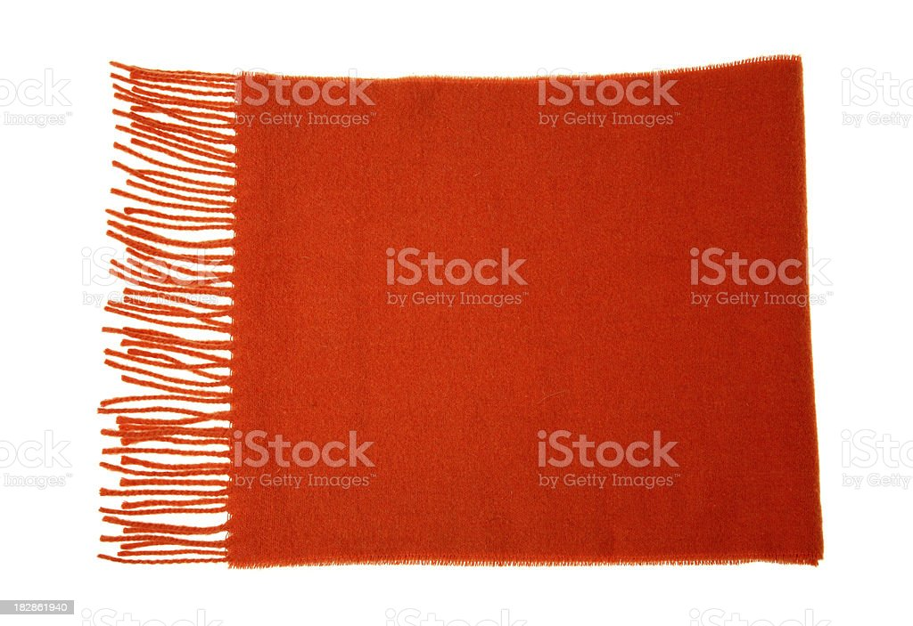 red scarf stock photo