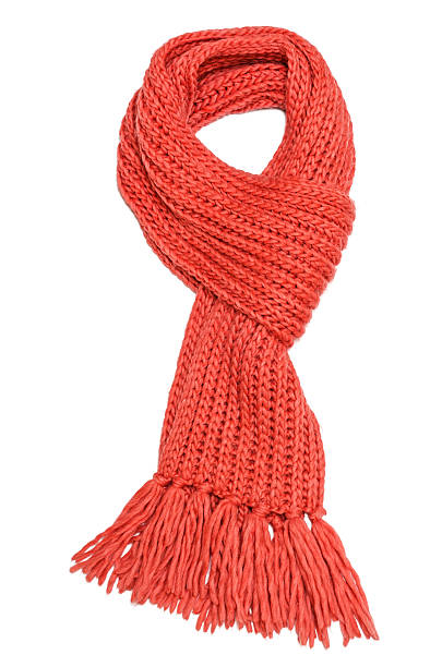 Red scarf Red textile scarf isolated on white background headscarf stock pictures, royalty-free photos & images