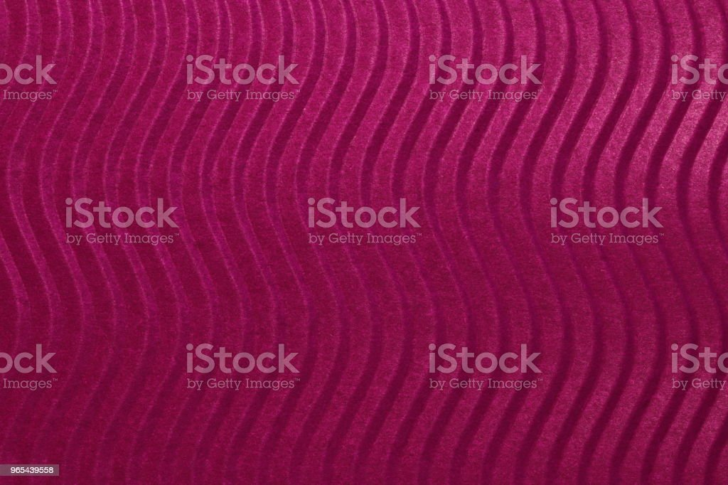 Red Scarlet Paper Vertical Waves Texture. Embossed Waves on Detailed Paper Background. Corrugated Wavy Cardboard Backdrop. zbiór zdjęć royalty-free