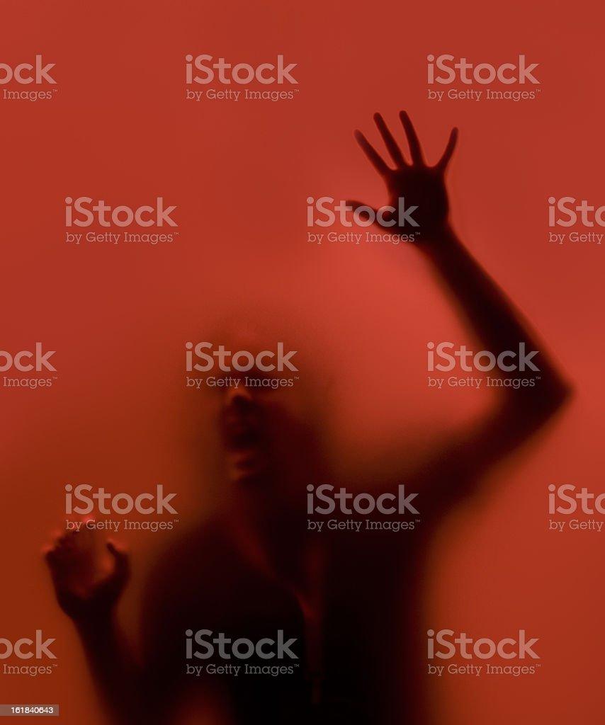 red scream stock photo