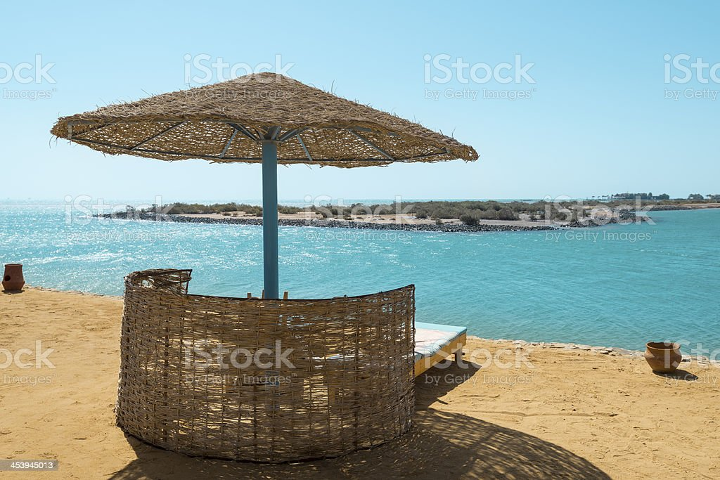 Red sea from the resort beach, El Gouna, Egypt (XXXLarge) stock photo