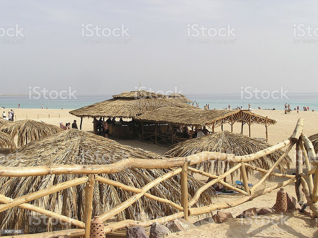 Red sea sandy beach, Egypt, Africa stock photo