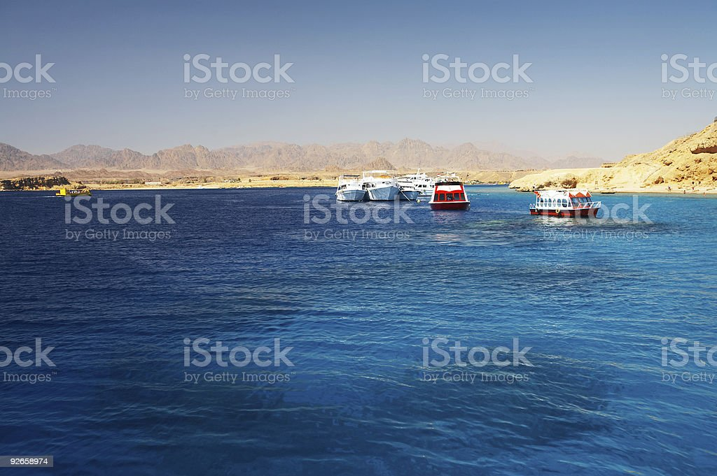 Red sea shore royalty-free stock photo
