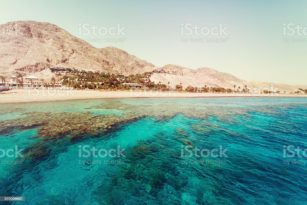Red Sea with Coral Reefs stock photo