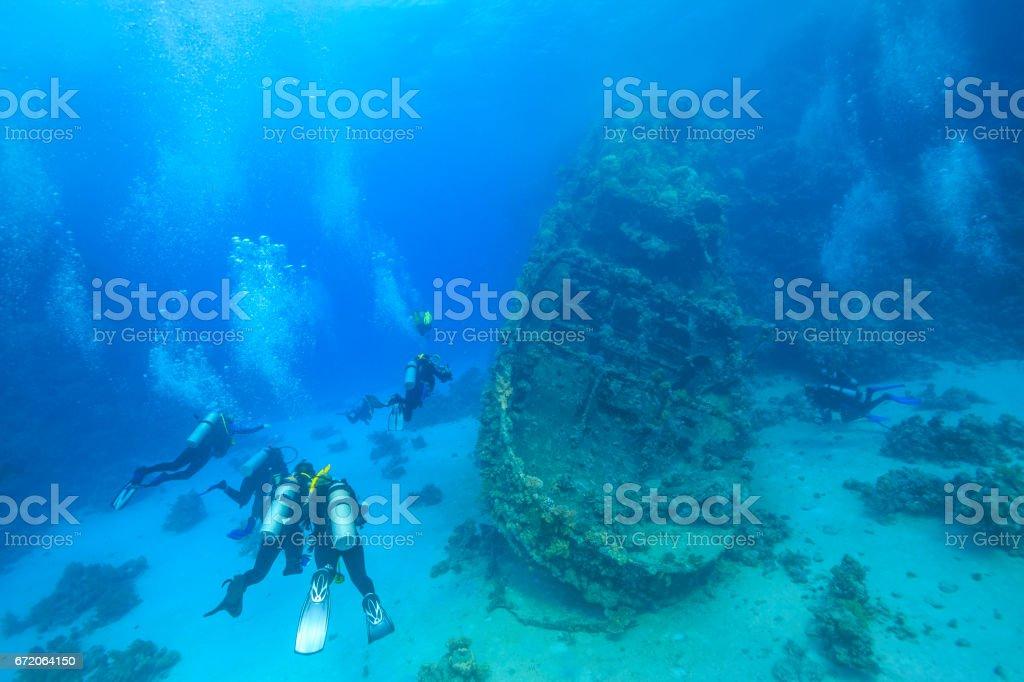 Red Sea Wreck Diving - foto de acervo