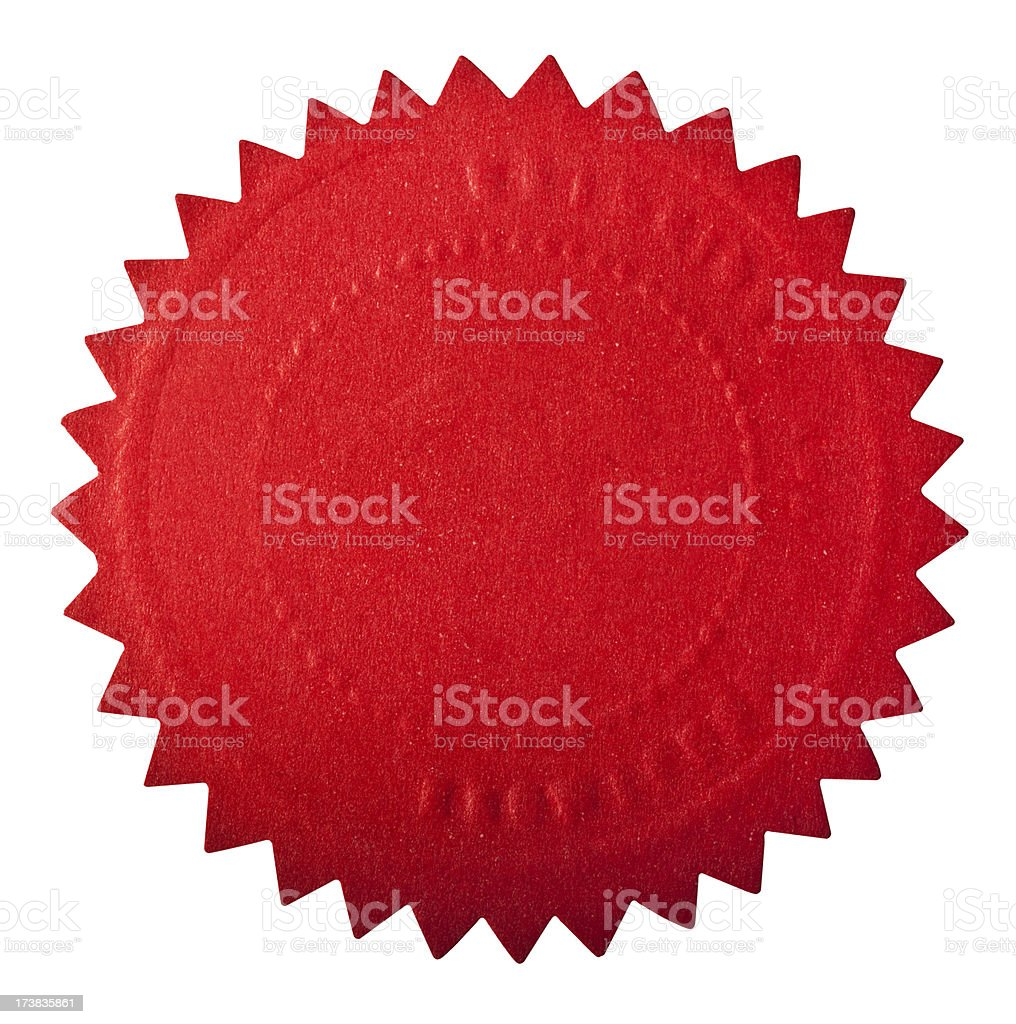 Red seal award stock photo