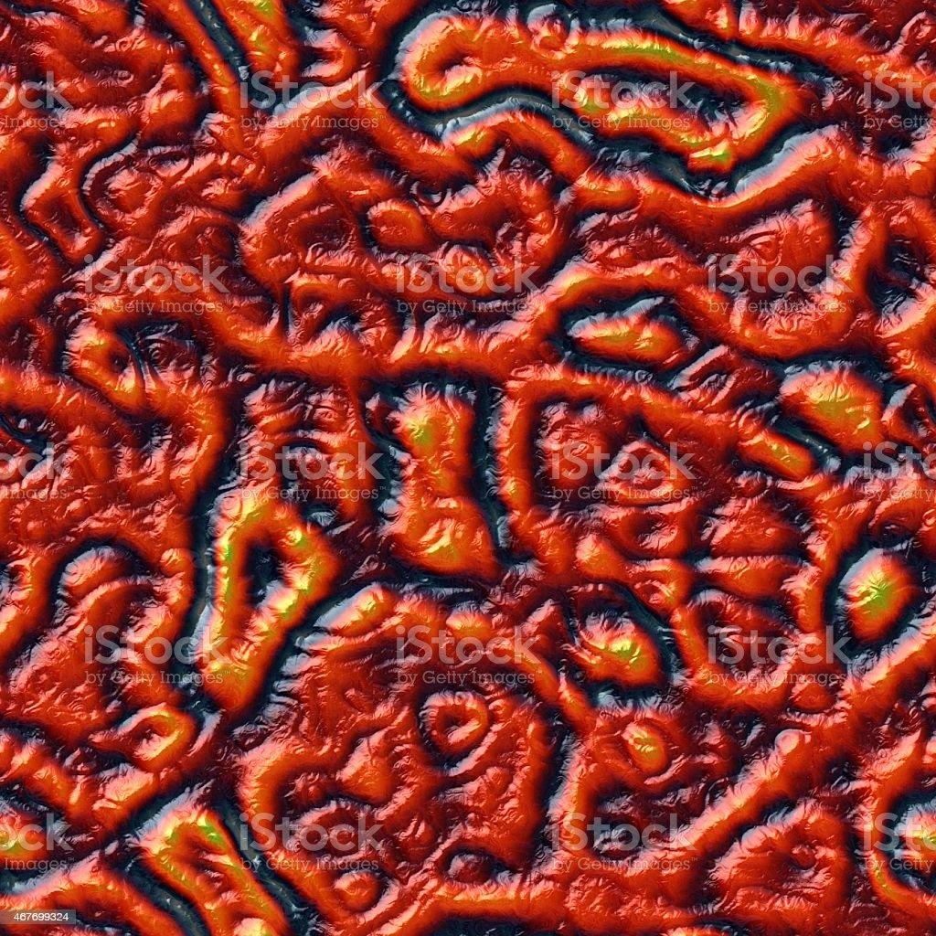 Red seamless alien skin texture stock photo