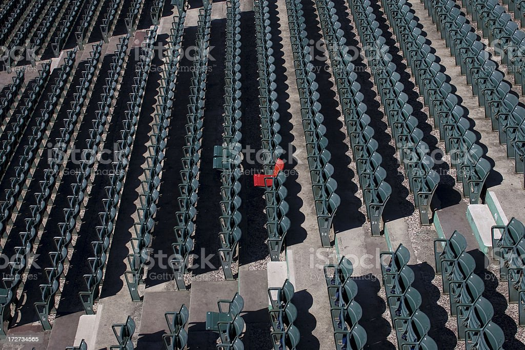 Red Seat at the Ballpark royalty-free stock photo