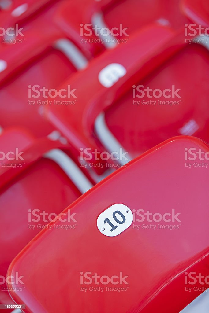 red seat royalty-free stock photo