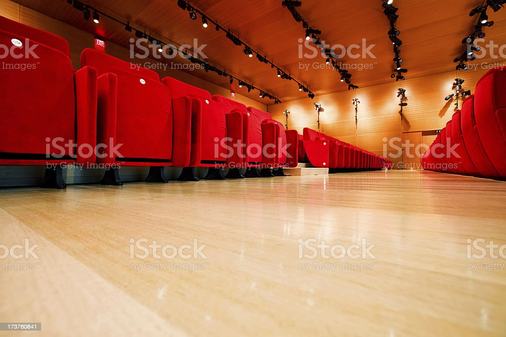 Red Seats in a Conference Room royalty-free stock photo