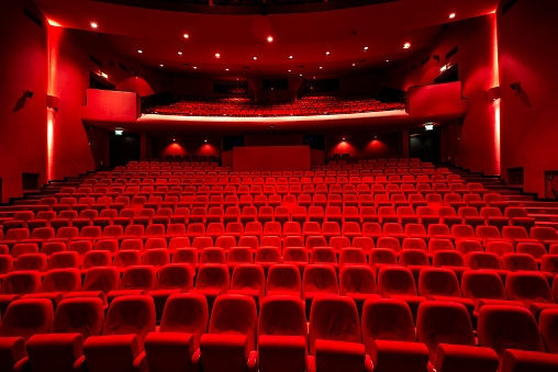 Red seats in theather