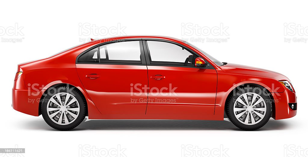 Red Sedan Car stock photo