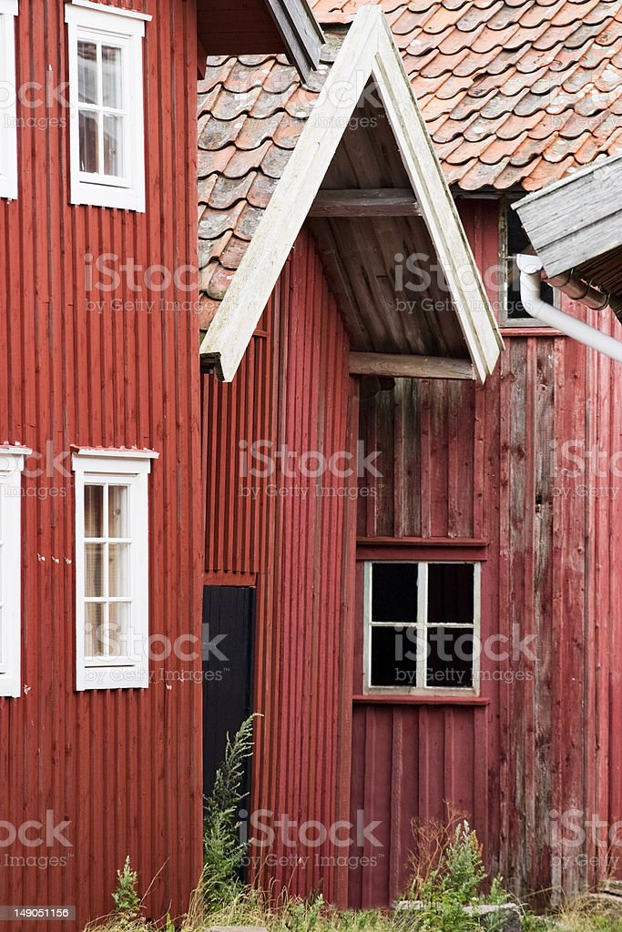 Red shed royalty-free stock photo