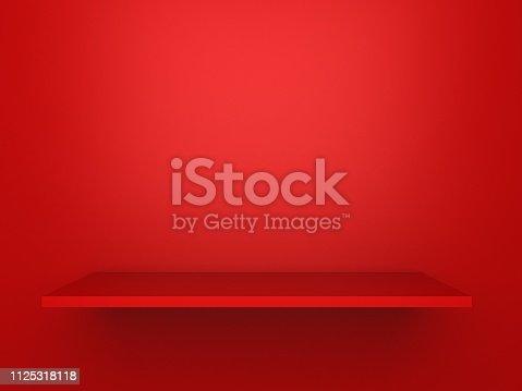 472923810 istock photo red Shelves 1125318118