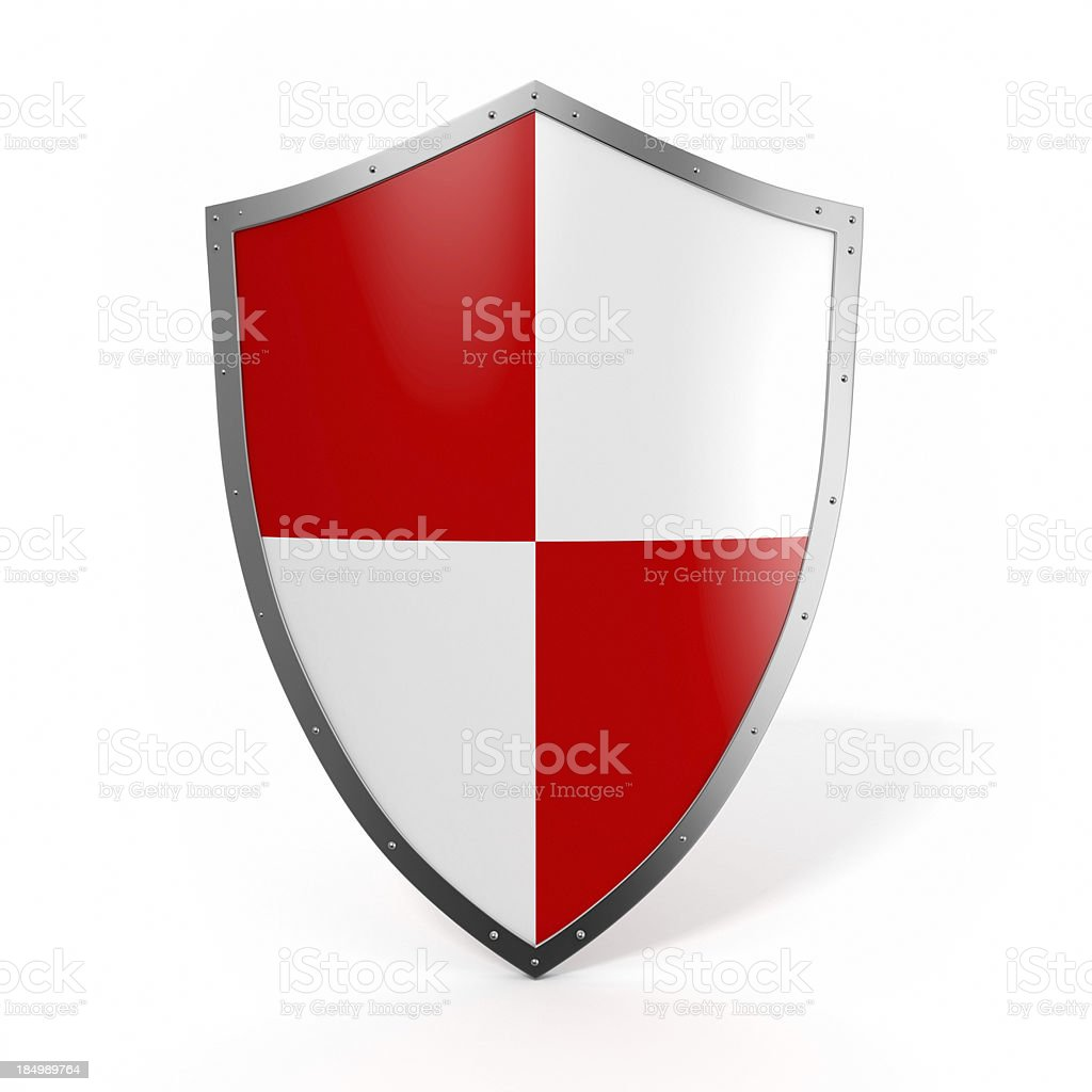 Red shield stock photo