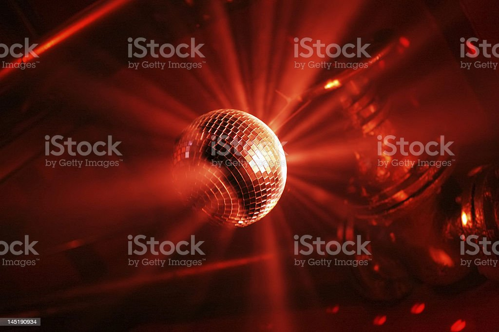 red shining discoball royalty-free stock photo