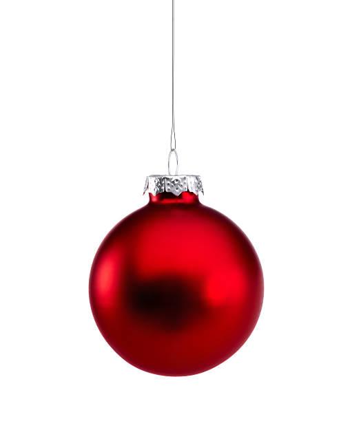 rosso brillante isolato gioielli - sfera lucida foto e immagini stock