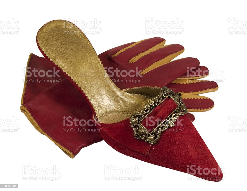 red shoe and glowers royalty-free stock photo
