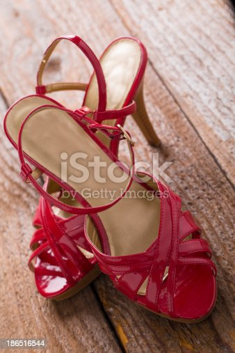 Red Shoe Concept Stock Photo & More Pictures of Beauty