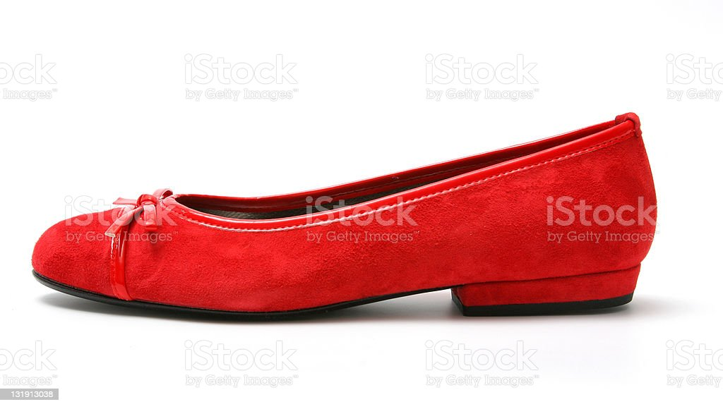 Red shoe royalty-free stock photo
