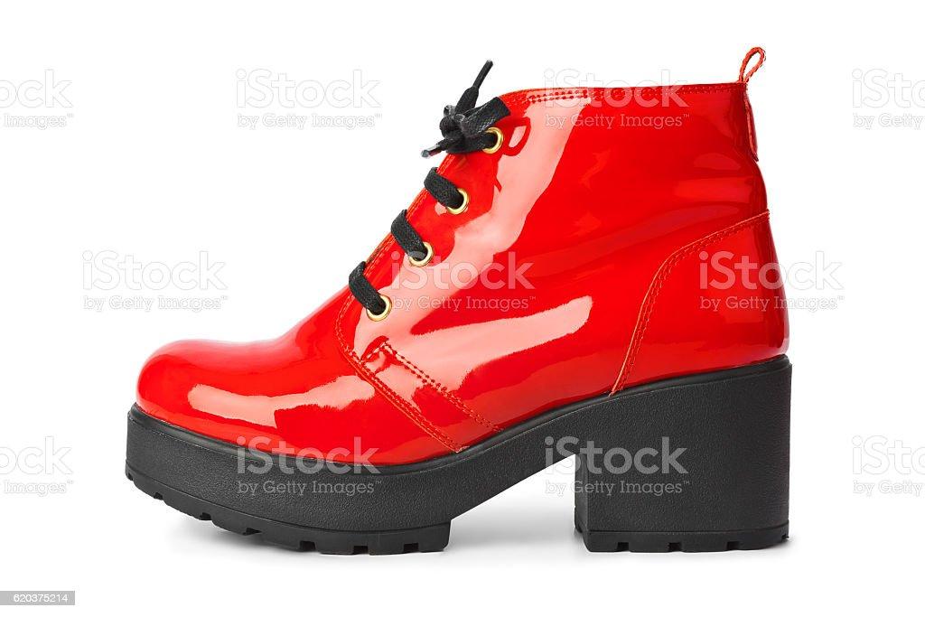 Sapato vermelho foto de stock royalty-free