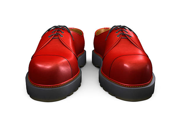 Red Shoes on White Background stock photo