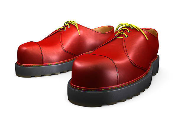 Red Shoes on White stock photo