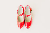 istock Red shoes 1049177362