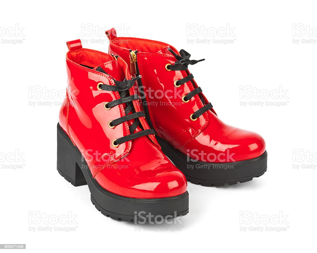 Sapatos vermelhos foto de stock royalty-free