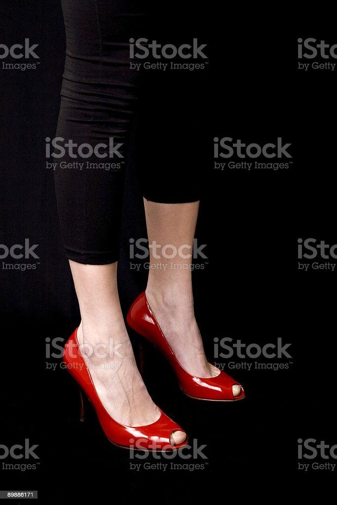 Красный Shoes Стоковые фото Стоковая фотография