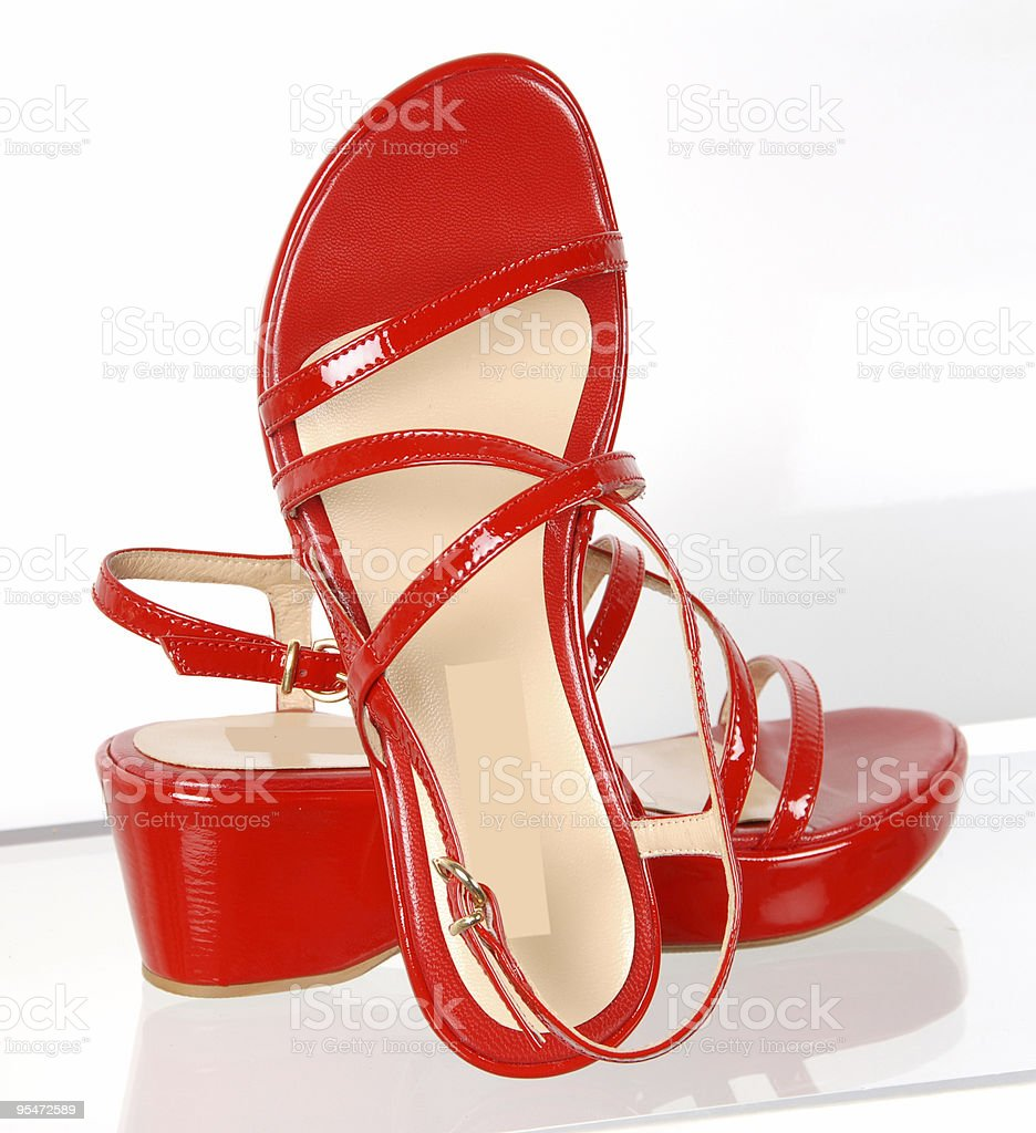 Red Shoes royalty-free stock photo