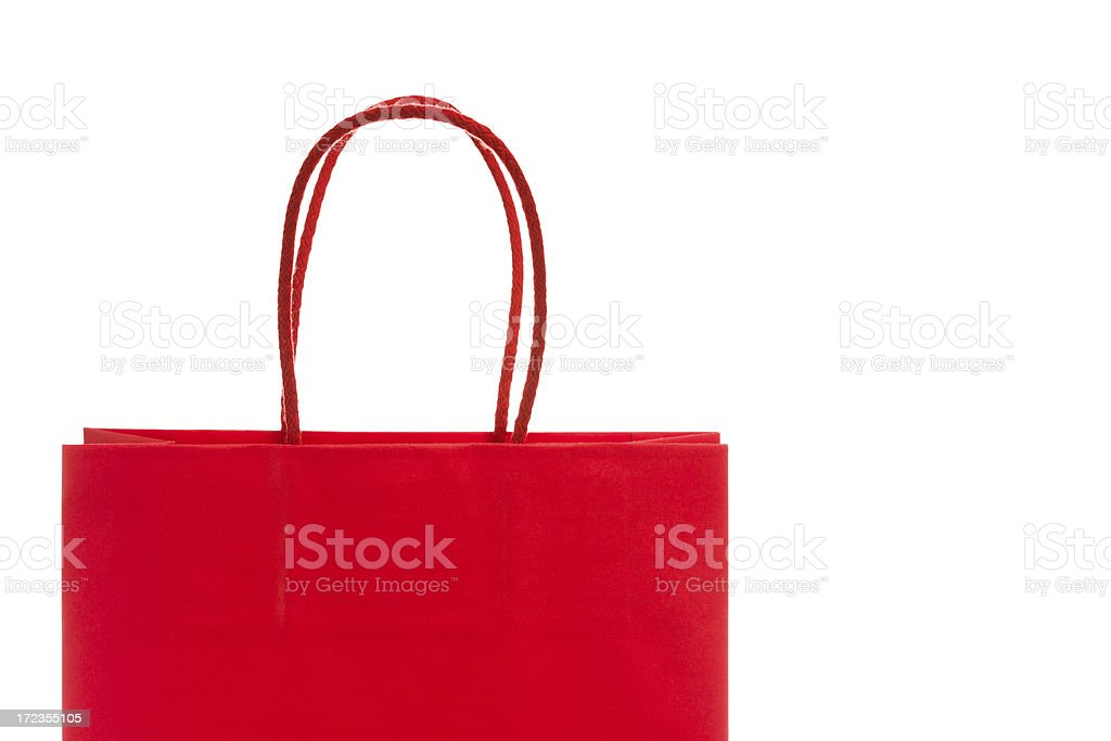 Red Shoppingbag royalty-free stock photo