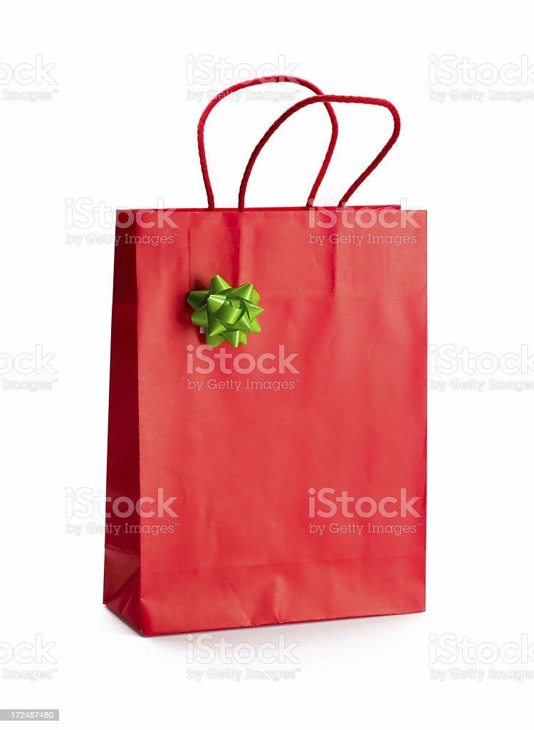 Red Shoppingbag royalty-free stock photo