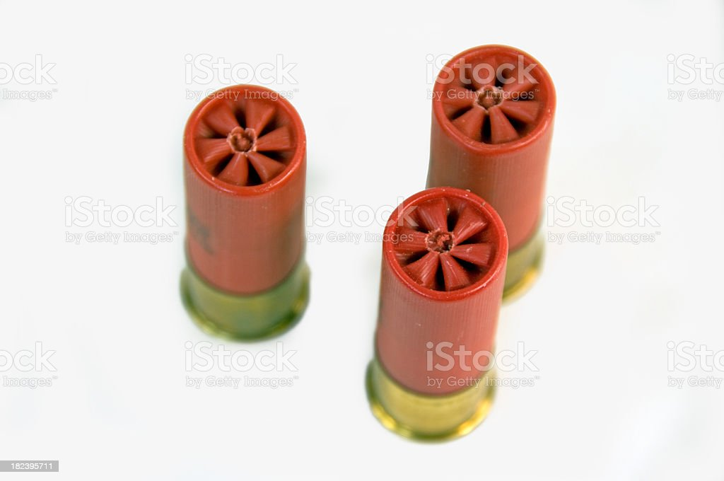 Red Shotgun Shells royalty-free stock photo