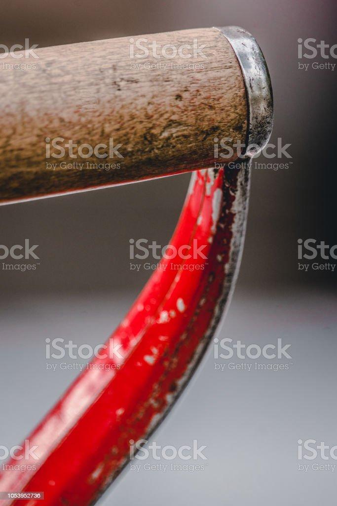 Manche de pelle rouge, construction - Photo