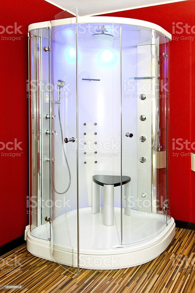 Red shower royalty-free stock photo