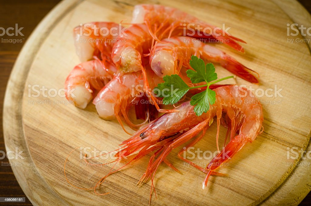 Red shrimps royalty-free stock photo