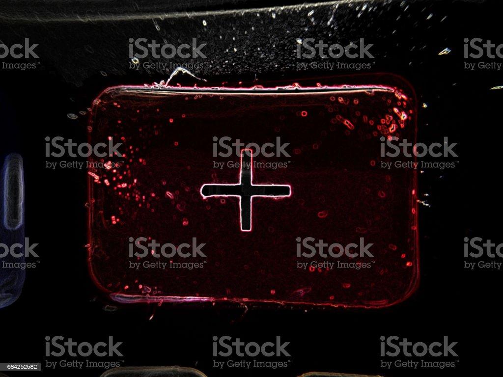 red shuny cross in the dark universe royalty-free stock photo