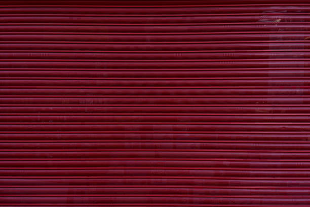 red shutter background stock photo