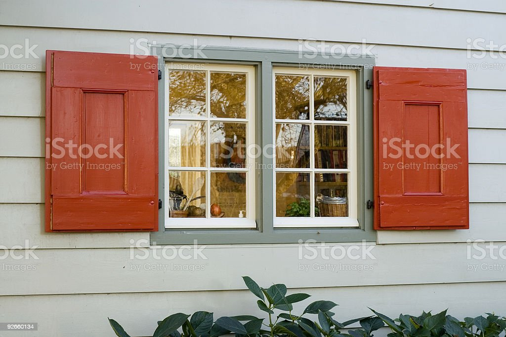 Red Shutters royalty-free stock photo