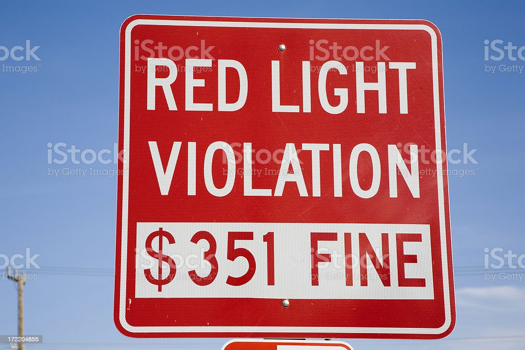 Red Sign Heavy Fine royalty-free stock photo