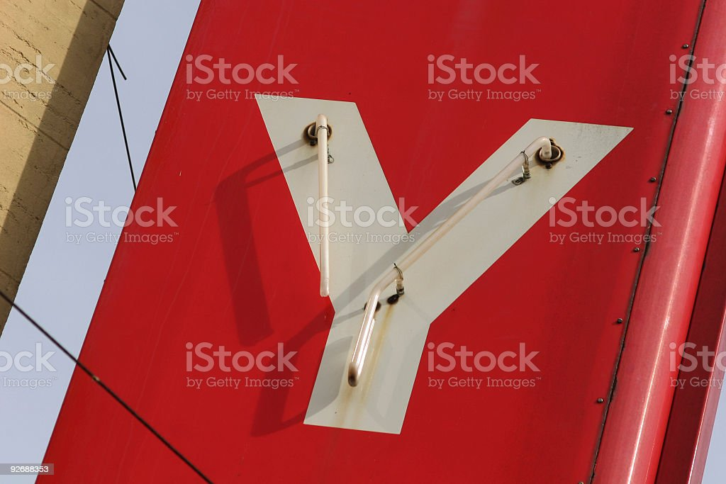 red sign stock photo