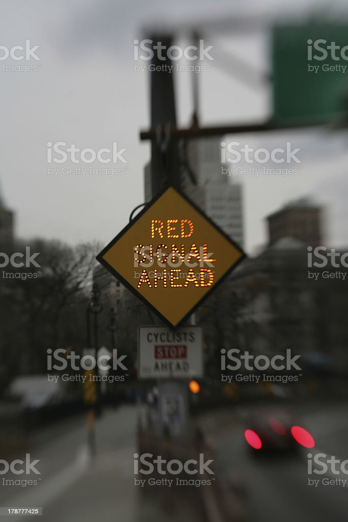 Red Signal Ahead royalty-free stock photo