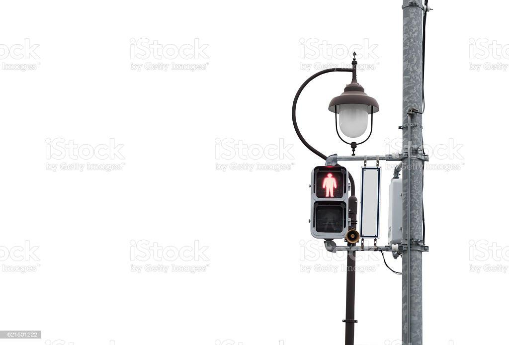 red signal light across the street Lizenzfreies stock-foto