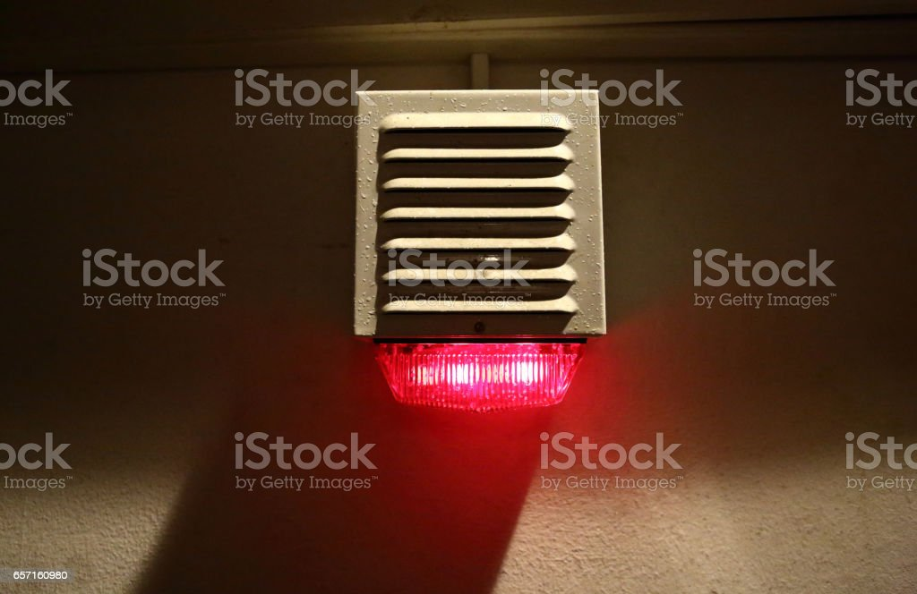 Red signal light stock photo