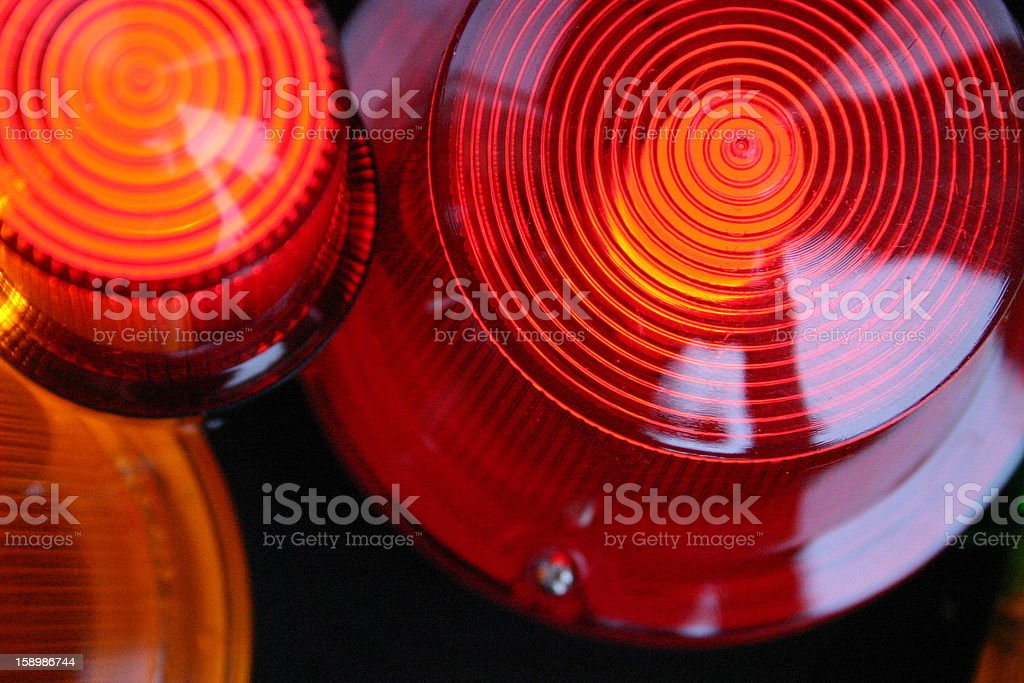 red signal light siren, close up stock photo