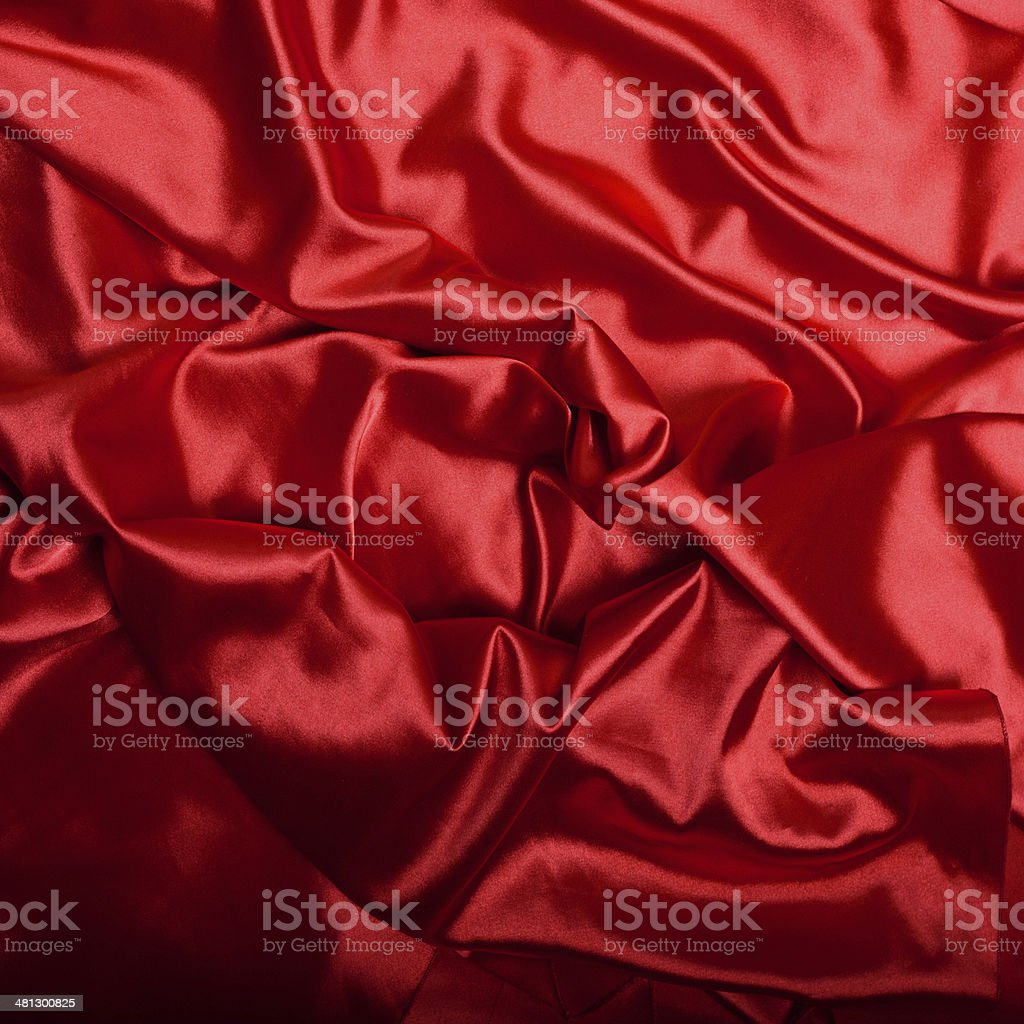 Red silk background close up royalty-free stock photo
