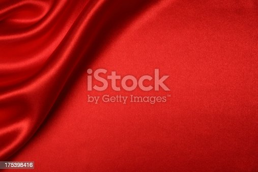 Red silk background with blank space.